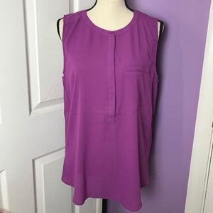 NYDJ Sleeveless Purple Sleeveless Blouse Size L